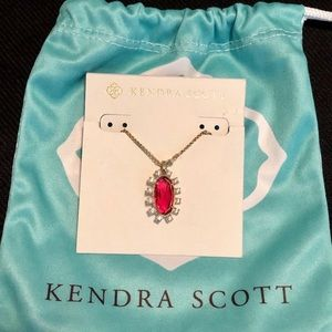 (New) Kendra Scott Red Pendant Necklace ♥️